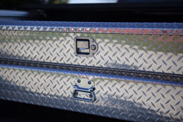 pickup truck tool box with key lock