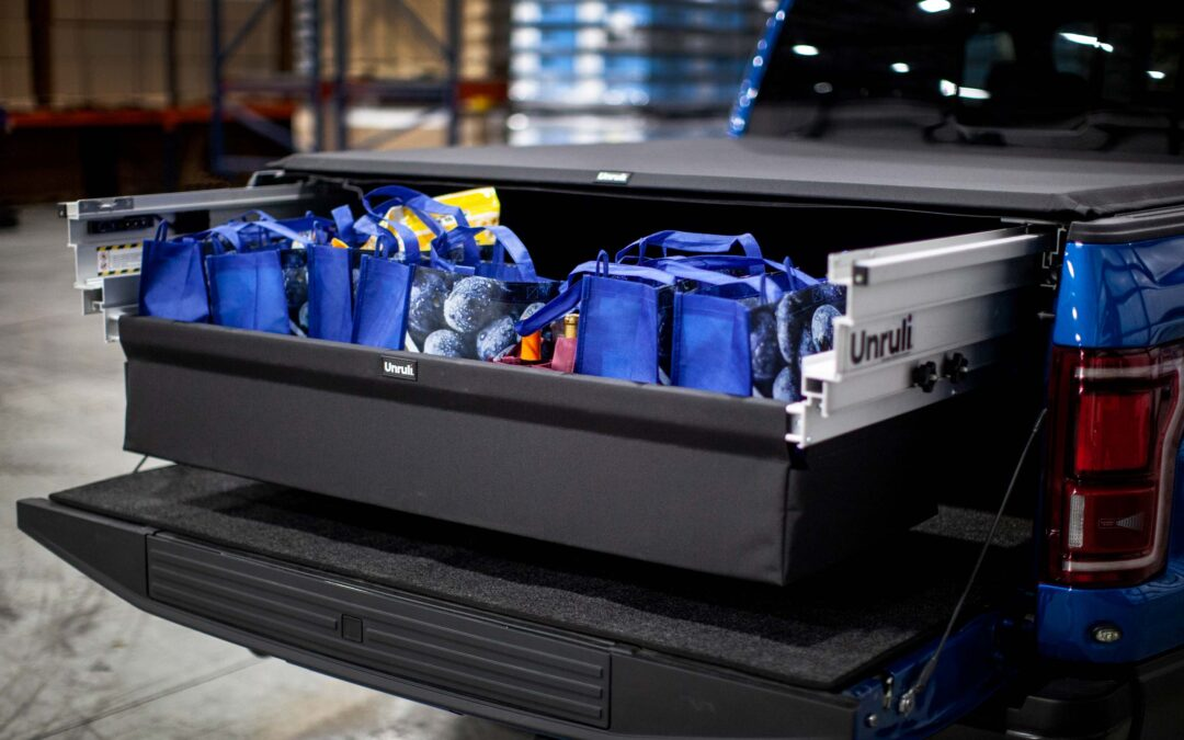 PICKUP TRUCK BED STORAGE FOR SHOPPING – Unruli® by Reliable Engineered Products, LLC